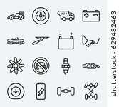 car icon. set of 16 car outline ... | Shutterstock .eps vector #629482463