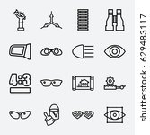 view icon. set of 16 view... | Shutterstock .eps vector #629483117