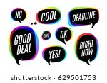 set of colorful bubbles  icons... | Shutterstock .eps vector #629501753