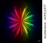 rainbow light rays background ... | Shutterstock .eps vector #629511377