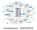 server technology vector... | Shutterstock .eps vector #629520953