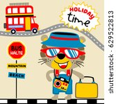 tiger holiday time  vector... | Shutterstock .eps vector #629522813