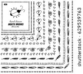 set of vector doodle pattern... | Shutterstock .eps vector #629539763