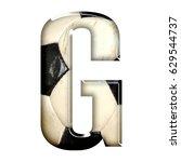 bold style european football or ... | Shutterstock . vector #629544737