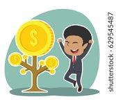 african businessman happy his... | Shutterstock . vector #629545487