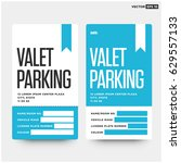 valet parking card design with... | Shutterstock .eps vector #629557133