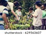 teacher and kids school... | Shutterstock . vector #629563607