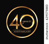 template logo 40 years... | Shutterstock .eps vector #629575883