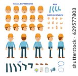 workman character creation set. ... | Shutterstock .eps vector #629577803