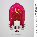 islamic beautiful design... | Shutterstock .eps vector #629590493