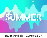 vector inscription summer ... | Shutterstock .eps vector #629591627