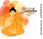 Illustration Of Buddha Purnima...