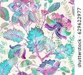 light floral seamless pattern ... | Shutterstock . vector #629622977