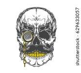 monochrome illustration of... | Shutterstock .eps vector #629633057