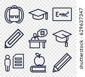 student icons set. set of 9...