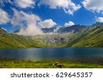 mountain lake in the mountains... | Shutterstock . vector #629645357