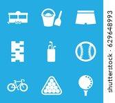 recreation icons set. set of 9... | Shutterstock .eps vector #629648993