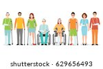 disabled people banner  invalid ... | Shutterstock .eps vector #629656493