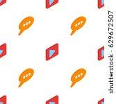 isometric low poly 3d vector... | Shutterstock .eps vector #629672507