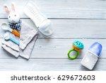 preparation of mixture baby... | Shutterstock . vector #629672603