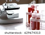 medical equipment blood test in ... | Shutterstock . vector #629674313