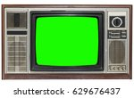 Vintage Tv Screen Clipping Pat...