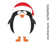 silhouette of penguin with... | Shutterstock .eps vector #629685053