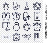 bell icons set. set of 16 bell... | Shutterstock .eps vector #629689817