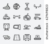transport icon. set of 16... | Shutterstock .eps vector #629698823