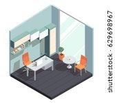 vector isometric interior  3d... | Shutterstock .eps vector #629698967