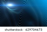 abstract background with waving ... | Shutterstock . vector #629704673