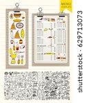 vector restaurant brochure ...   Shutterstock .eps vector #629713073