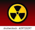 the icon of radiation on red... | Shutterstock .eps vector #629723297