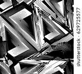 abstract seamless grunge urban... | Shutterstock .eps vector #629725577