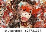 digital art. modern. poster.... | Shutterstock . vector #629731337