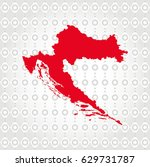 croatia map in diamond... | Shutterstock .eps vector #629731787