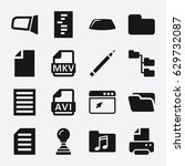document icon. set of 16... | Shutterstock .eps vector #629732087