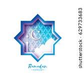 origami mosque star window... | Shutterstock .eps vector #629733683