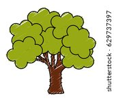 tree plant nature isolated icon | Shutterstock .eps vector #629737397