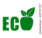 eco food  organic bio product... | Shutterstock .eps vector #629737757