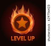 level up game bonus icon.... | Shutterstock .eps vector #629756423