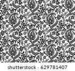 indian motif pattern vector | Shutterstock .eps vector #629781407