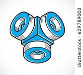 vector abstract 3d geometric... | Shutterstock .eps vector #629789003