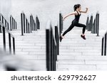 side view of athletic young...   Shutterstock . vector #629792627