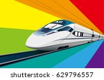 high speed railway | Shutterstock .eps vector #629796557