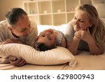 grandmother and grandfather lie ... | Shutterstock . vector #629800943
