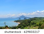 "Small photo of ""siree sawee beach"" on top view in chumphon,thailand"