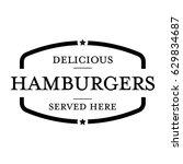 hamburger vintage stamp logo | Shutterstock .eps vector #629834687