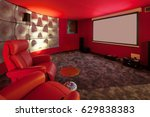 film room in a private house ... | Shutterstock . vector #629838383
