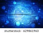 digital abstract technology... | Shutterstock . vector #629861963